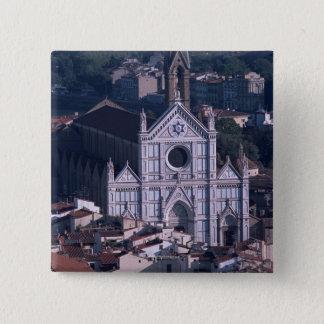 Basilika Santa Croce Quadratischer Button 5,1 Cm