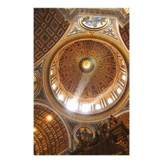 Basilikainnenraum Sans Pietro in Rom, Italien Briefpapier