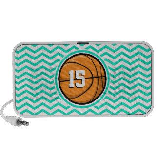 Basketball Aqua-grünes Zickzack iPod Speaker