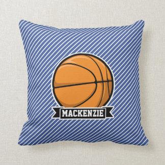 Basketball auf den blauen u. weißen Streifen Kissen