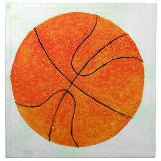 Basketball-Ball Sketch3 Serviette