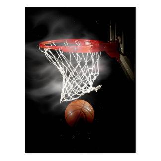 Basketball-Ball u. Netz Postkarte