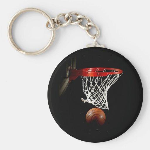 Basketball-Ball u. Netz Schlüsselanhänger