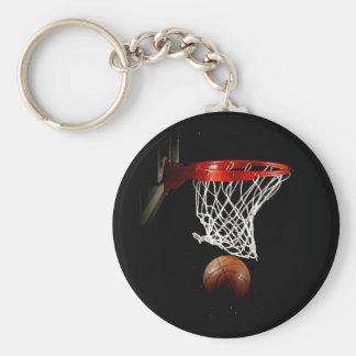 Basketball-Ball u. Netz Standard Runder Schlüsselanhänger