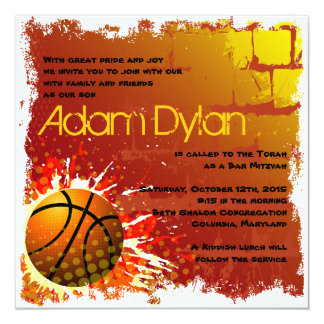 Basketball-Bar Mitzvah Einladung