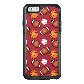 Basketball-, Baseball-und Fußball-Liebe OtterBox iPhone 6/6s Hülle