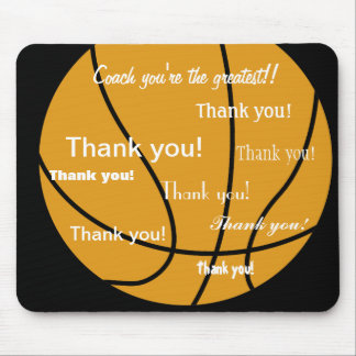 Basketball danken Ihnen Geschenke Mauspad