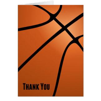 Basketball danken Ihnen leeres kundengerechtes Karte