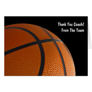 Basketball danken Ihren Team-Karten Grußkarte