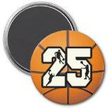 Basketball der Nr.-25 Magnets