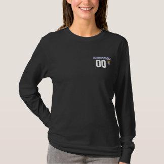 Basketball-dunkelblauer Buchstabe personifizieren T-Shirt