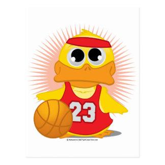 Basketball-Ente Postkarte