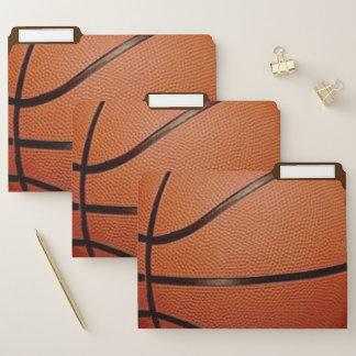 Basketball-Entwurfs-Datei-Ordner-Set Papiermappe