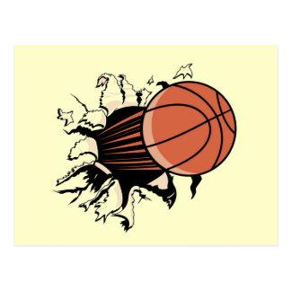 Basketball-Explosions-T - Shirts und Geschenke Postkarte