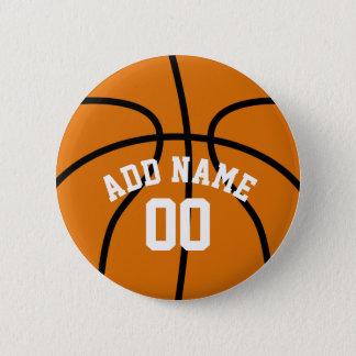 Basketball-Fan mit Name-Zahl Runder Button 5,7 Cm