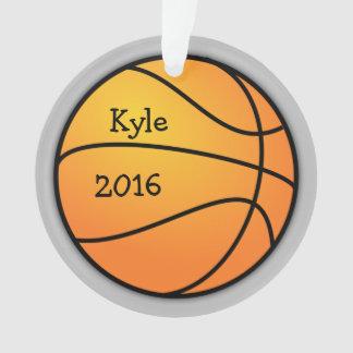 Basketball-Foto-Schablonen-Weihnachtsverzierung Ornament