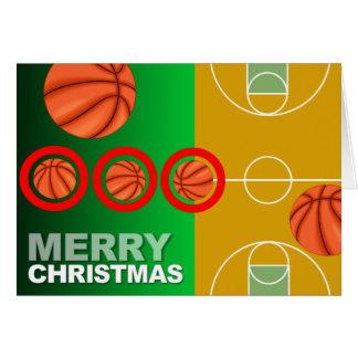 Basketball-frohe Weihnacht-Karte Karte