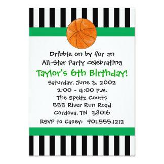 Basketball-Geburtstags-Einladungen Karte