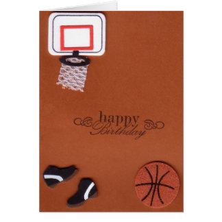 Basketball-Geburtstags-Karte Karte