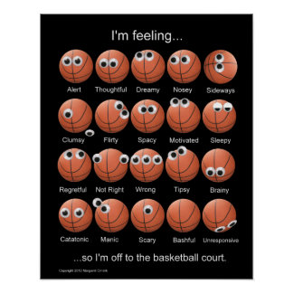 Basketball-Gefühl-Plakat