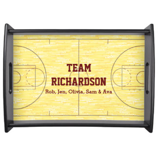 Basketball-Gericht personalisiert Serviertablett