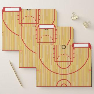 Basketball-Gerichts-Entwurfs-Datei-Ordner-Set Papiermappe