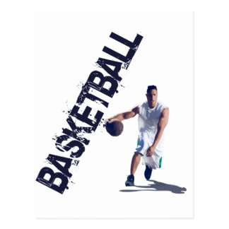 Basketball-Getröpfel Postkarte
