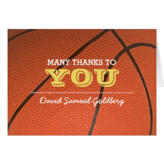 Basketball-GoldBar Mitzvah danken Ihnen zu merken Karte