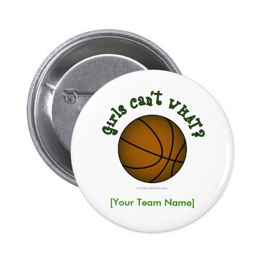 Basketball - Grün Anstecknadelbutton