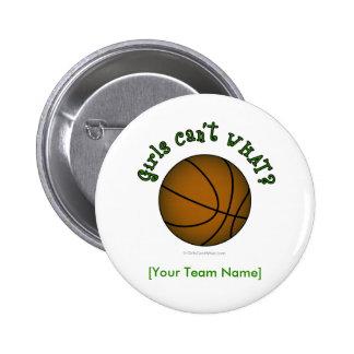 Basketball - Grün Runder Button 5,1 Cm