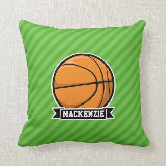 Basketball; Grüne Streifen Kissen
