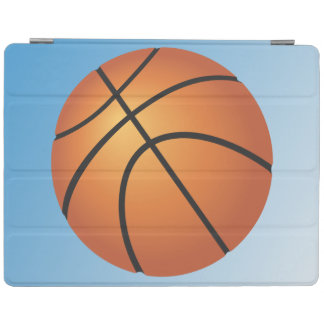Basketball-Ikonen-Blau-Hintergrund iPad Hülle
