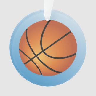 Basketball-Ikonen-Blau-Hintergrund Ornament