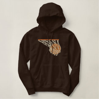 Basketball im Netz Hoodie