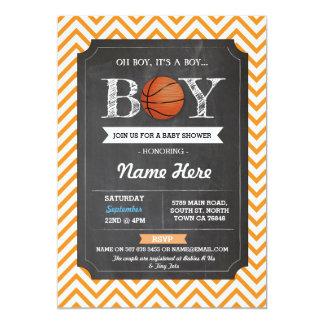 Basketball-Jungen-Babyparty-orange Sport lädt ein Karte