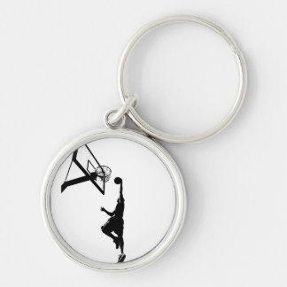 Basketball-Knall taucht Silhouette ein Schlüsselanhänger