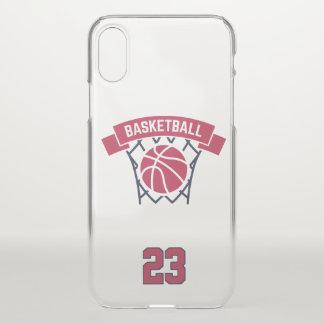 Basketball. Kundenspezifische Spieler-Zahl iPhone X Hülle