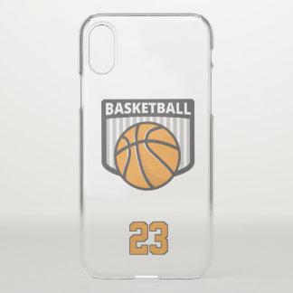 Basketball. Kundenspezifische Zahl iPhone X Hülle
