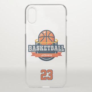 Basketball. Kundenspezifischer Spieler-Name u. iPhone X Hülle