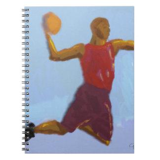 Basketball-Kunst Notizblock