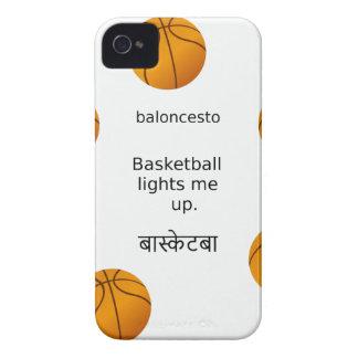 Basketball leuchtet mir mit Spanischen und Hindi iPhone 4 Case-Mate Hüllen