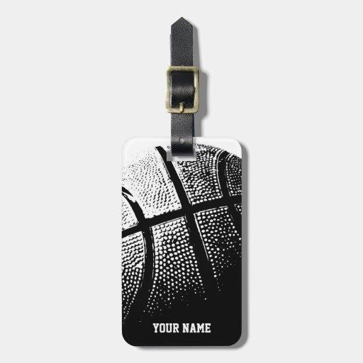 Basketball lugguge Umbau mit Namen oder Monogramm Kofferanhängern