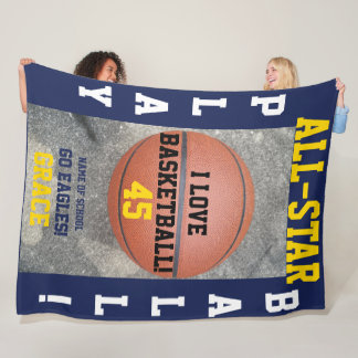 Basketball-Marine-Team-personalisierte Fleecedecke
