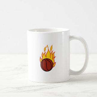 Basketball mit Flammen Kaffeetasse