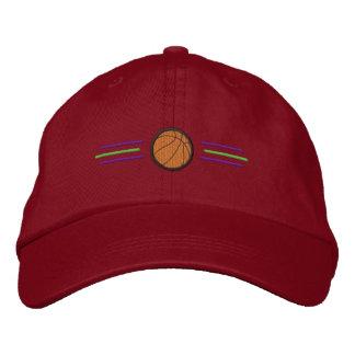 Basketball mit Linien Bestickte Caps