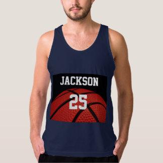 Basketball-Nahaufnahme trägt kundenspezifische Tank Tops