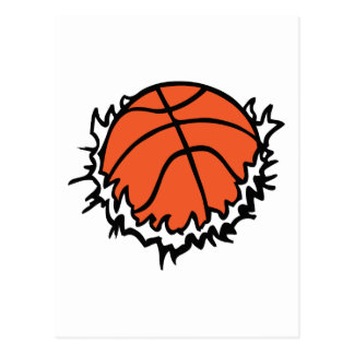 BASKETBALL-RISS POSTKARTE