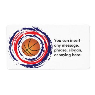 Basketball-rotes Blaues und weiß