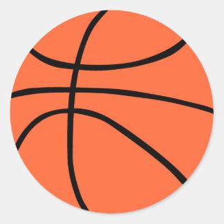 Basketball Runder Aufkleber