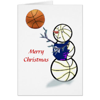 Basketball-Schneemann-Weihnachtskarten Karte
